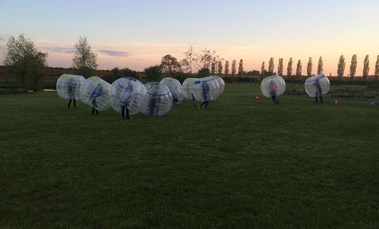 Bubble football à Louvain-la-Neuve