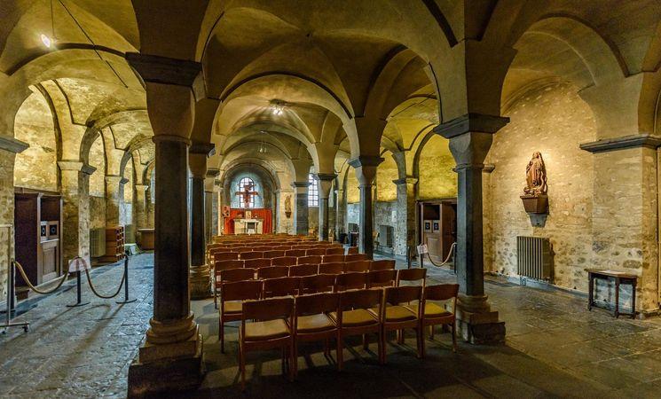 Collegiale Sainte-Gertrude crypte