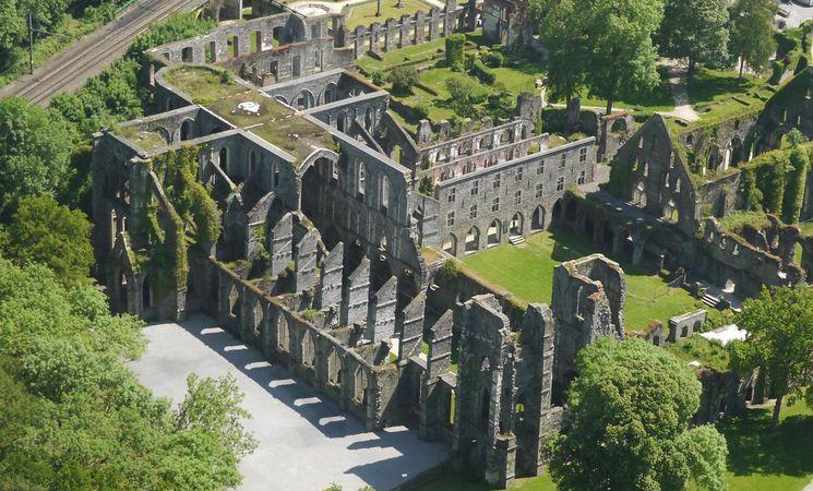 Abbaye de Villers-la-Ville vue aérienne