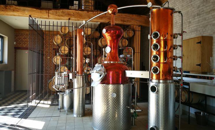 Micro-distillerie Ferme de Mont-Saint-Jean - intérieur