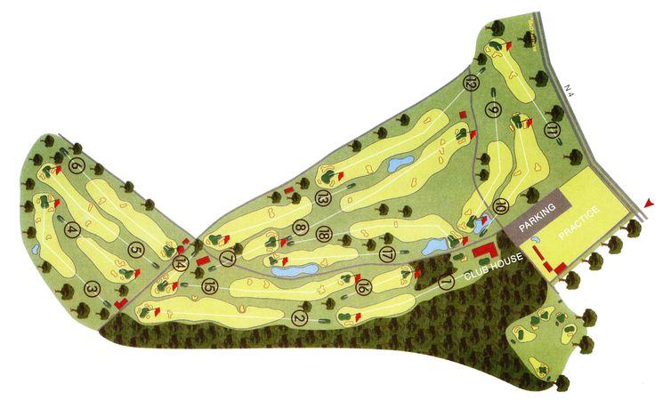 Golf LLN - carte