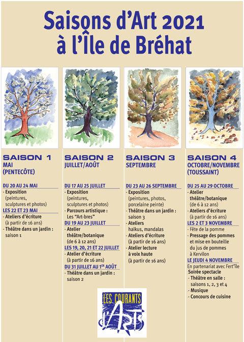 Affiche programme Les Courants d'Arts