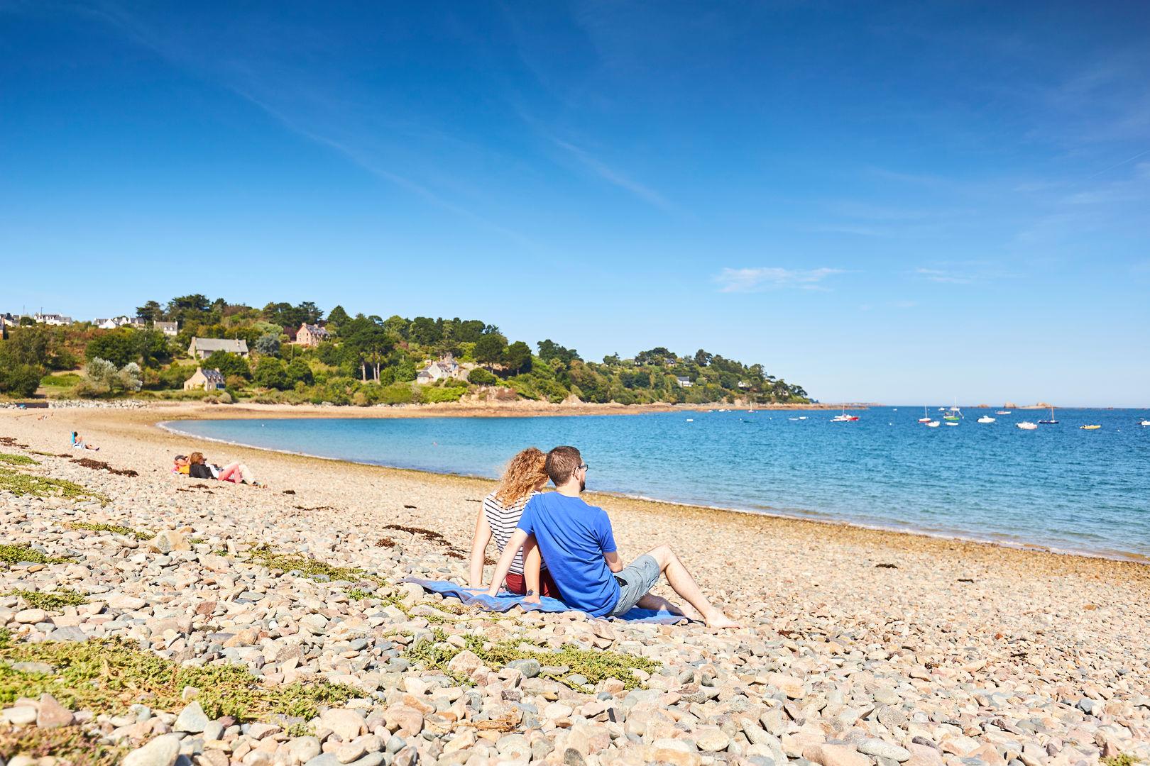 Détente sur la plage du Launay à ploubazlanec