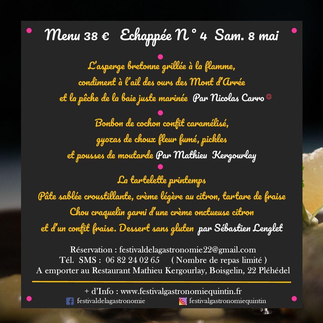 ECHAPPEE N°4 menu