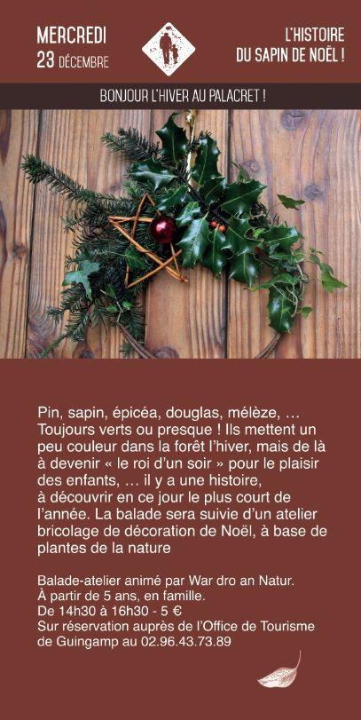 Balade et Atelier décoration de Noël