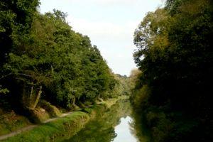La grande Tranchée des Bagnards - Canal de Nantes à Brest