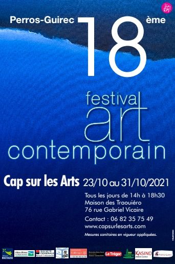 affiche festival art contemporain