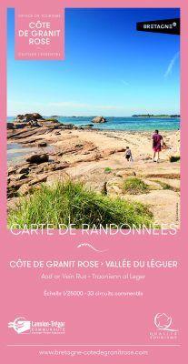 Carte de randonnée Côte de Granit Rose - Vallée du Léguer (33 circuits - 5€)