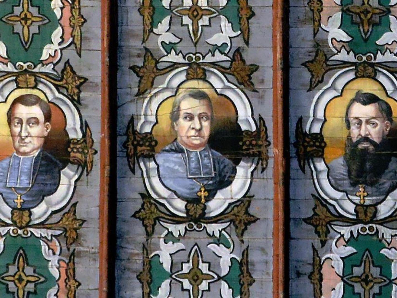 kergrist-moëlou-Peinture voute église- CPRB