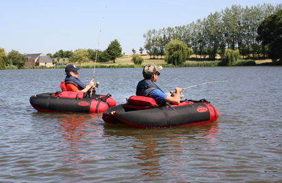 Initiation pêche en float-tube