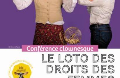 Conférence clownesque Le loto des droits des femmes