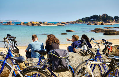 Balade à vélo sur la Côte de Granit Rose sur La Vélomaritime