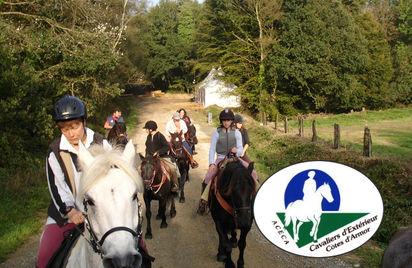 À cheval boucle du Tro Vras en forêt d'Avaugour