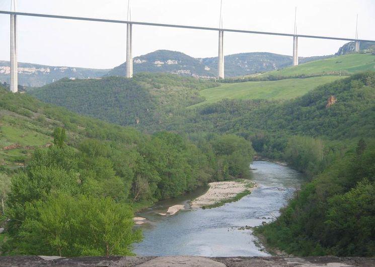 Le Tarn et le viaduc de Millau