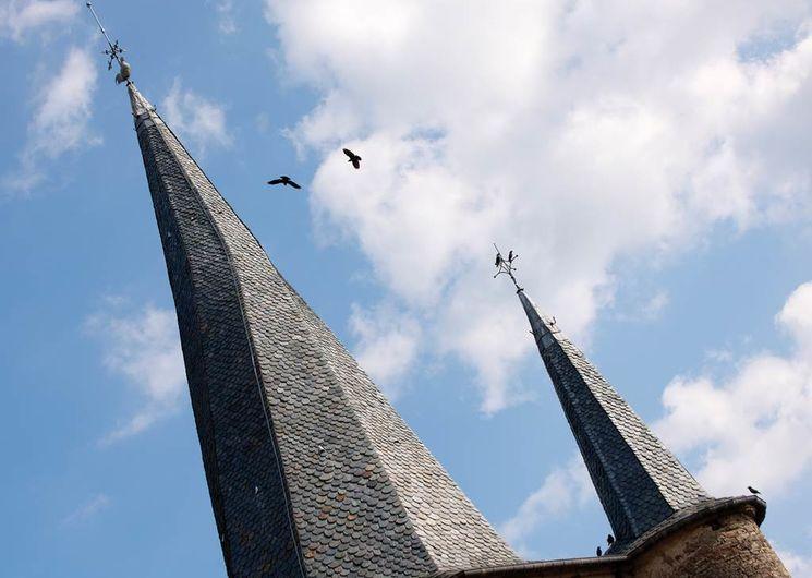 Flèche du clocher culminant à 42 mètres