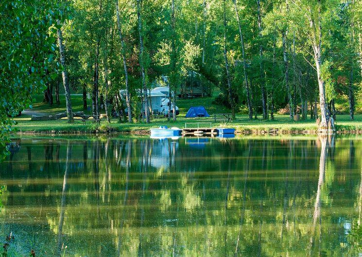 Campin paysage lac