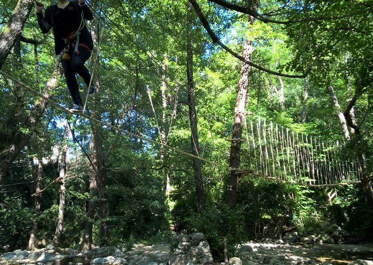 Le Bois Des Plumes - ST JEAN DU GARD - parcours aventure