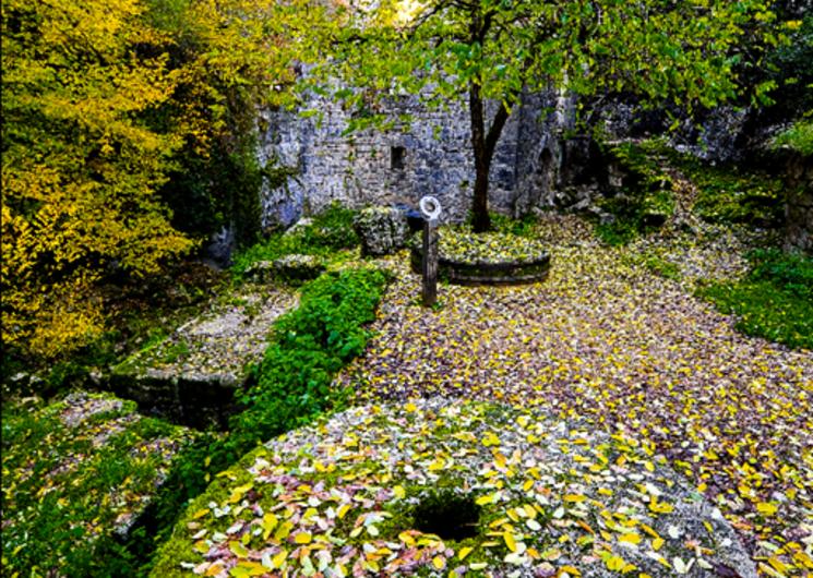 Canyon de l'Alzou - Site du moulin du saut