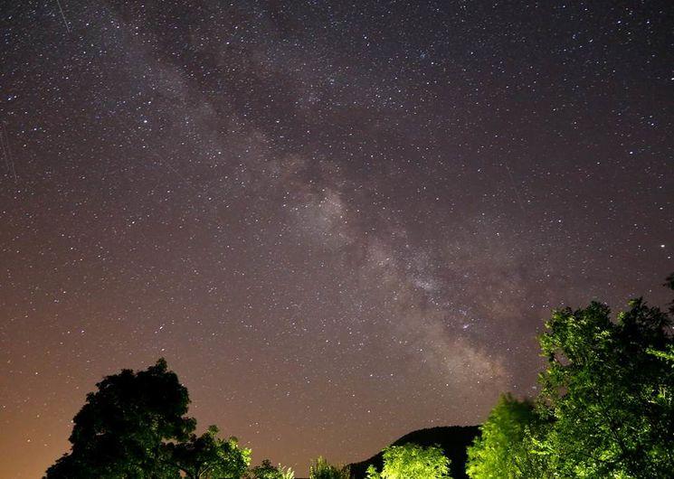 La voie lactée dans le ciel Cévenol