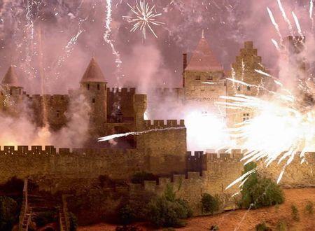 Embrasement de la cité de Carcassonne