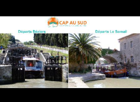 Croisière 1h en bateau sur le Canal du Midi - Départ Béziers