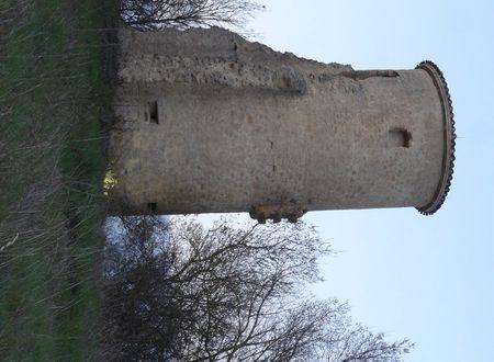 TOUR D'ANGLE DE L'ANCIEN CHATEAU DE LAFAGE