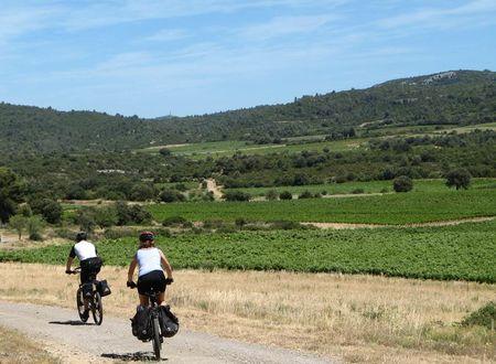 Les vignobles du Languedoc à vélo