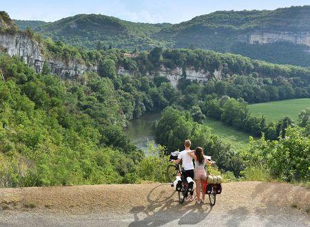 Séjour vélo de la vallée du Lot aux Bastides de l'Aveyron