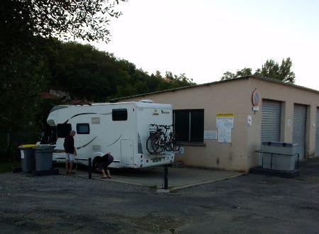 Aire de service pour Camping-car (camping du rouergue)