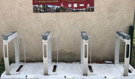 Borne de recharge électrique pour vélo à Meung-sur-Loire