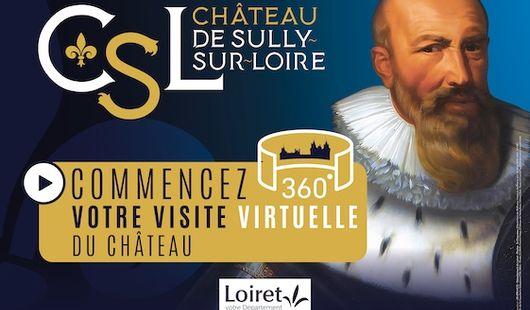Visite virtuelle du Château de Sully-sur-Loire