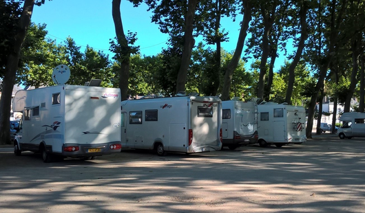 Motorhome services area in Meung-sur-Loire
