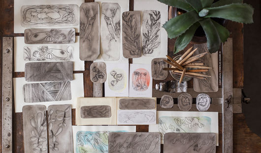Atelier-école à l'AMI : Gravure sur Tetrapak