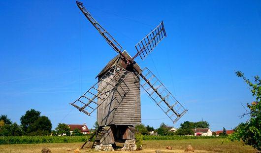 Moulin aux oiseaux - moulin à vent