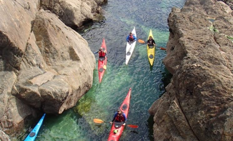 Kayak de mer Morbihan ; loisirs Bretagne ; Groix
