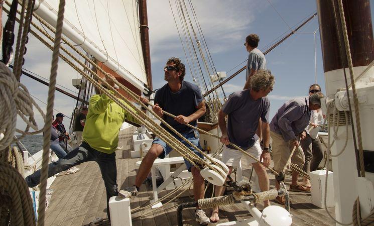 Sorties en vieux greements Morbihan ; loisirs Bretagne ; Groix