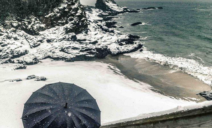 La Côte d'Héno sous la neige