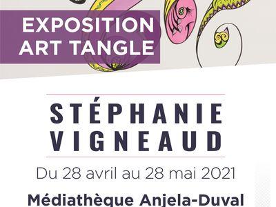 De l'art tangle à la médiathèque Anjela-Duval