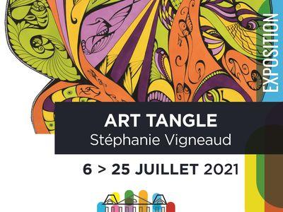 Exposition d'art tangle de Stéphanie Vigneaud
