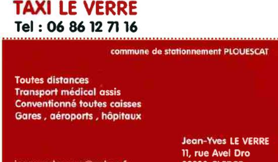 Taxi Le Verre